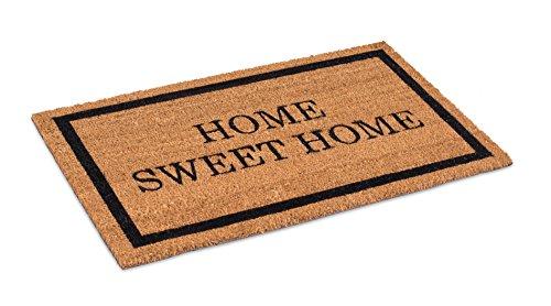 BirdRock Home Home Sweet Home Coir Doormat   18 x 30 Inch   Standard Welcome Mat with Black Border and Natural Fade   Vinyl Backed   Outdoor (Mat Christmas Coir Door)