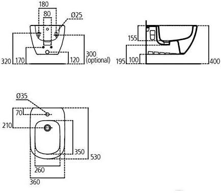 /susp Tesi fixation cach/ée Ideal Standard bidet t355201/