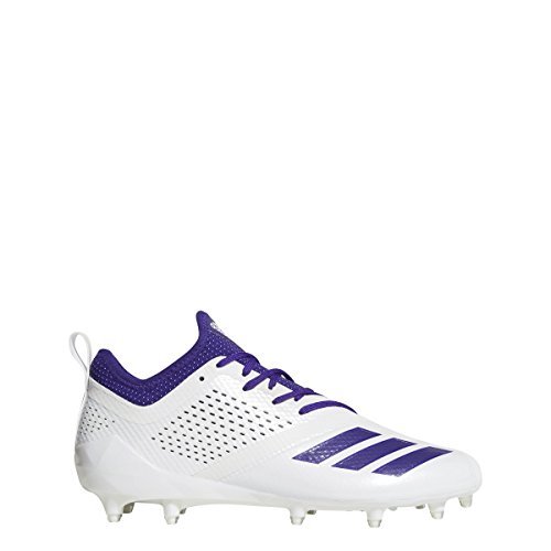 adidas Adizero 5Star 7.0 Cleat Men's Football 10.5 White-Collegiate Purple