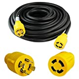 Leisure Cords 4-Prong 50 Feet 30 Amp Generator Cord, 10 Gauge...