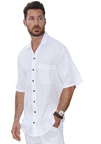 Cotton Natural Islander Button Sleeve