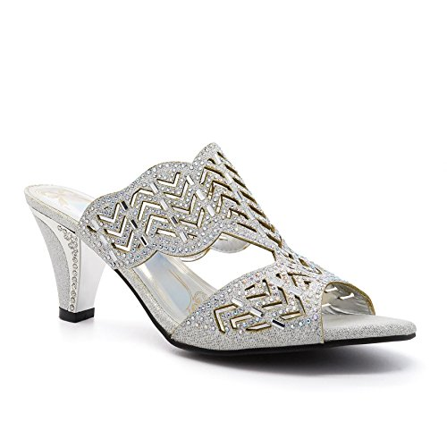 Kitten Heels London Ivana Sandals Silver WoMen Footwear vCICxt