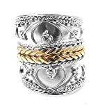 Sterling Silver Joan of Arc Lady Warrior Armor Ring Size 4(Sizes 4,5,6,7,8,9,10,11,12,13)