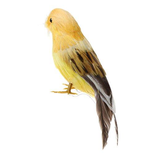Feathered Bird Ornament - MonkeyJack Emulation Bird Realistic ORNAMENTS 12cm 5