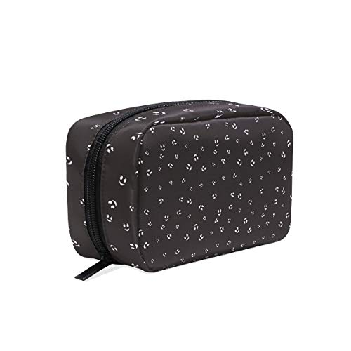 Cute Face Halloween Pattern Seamless Color Travel Toiletry Bag Multifunction Portable Ladies Travel Square Bag Cosmetic Make up Brushes Storage Bag for Travel, Portable Ladies Travel Square Bag ()