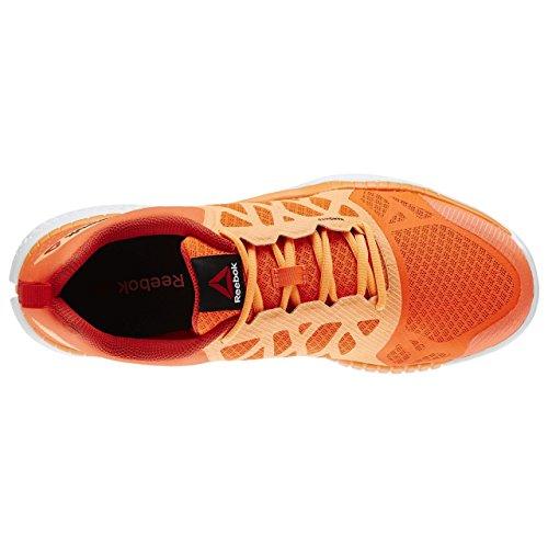Reebok Zprint Train, Scarpe Sportive Uomo Rosso / Arancione / Bianco (Atomic Red / Electric Peach / Motor Red / Opal)