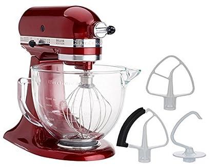 KitchenAid 5-Quart Stand Mixer Glass Bowl Granadine