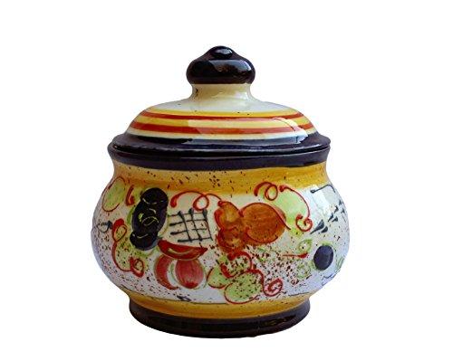 Storage Jar - 1 Quart - Hand Painted in Spain - Splash! Design by Cactus Canyon Ceramics