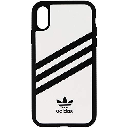 (Adidas Originals Samba Snap Case for iPhone XR - White w/ Black Stripes)