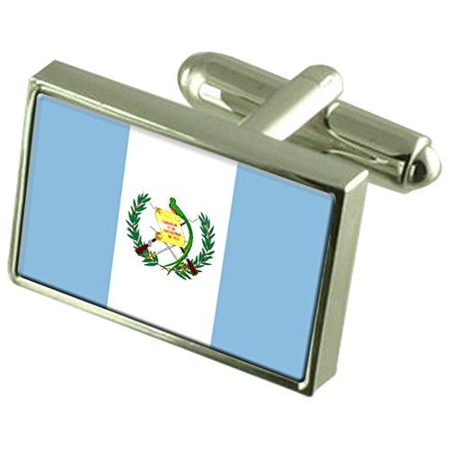 Guatemala Drapeau en argent Boutons de manchette