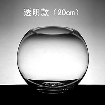 Botella de agua de vidrio redonda transparente pequeño tanque de ...