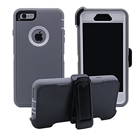 iPhone 6 / 6S Cover | 3-in-1 Screen Protector, Kickstand & Holster Case | Full Body Military Grade Edge-to-Edge Protection with carrying belt clip | Drop Proof Shockproof Dustproof | (Iphone 4 Otterbox Armor Case)