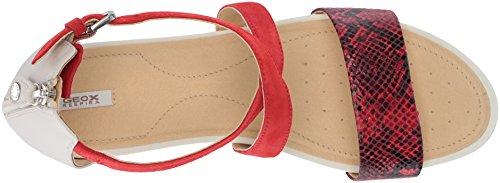 15 Off Scarlet Flat Geox Women's Sandal White Formosa pvT5qS