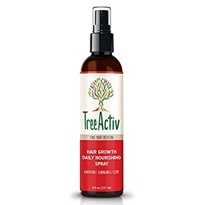 TreeActiv Hair Growth Tonic with Tea Tree & Biotin (8 oz.) - Leave-In Conditioner and Split End Treatment Repairs Dry, Damaged Roots - Hair Loss Treatment Promotes Healthier Volume, Control & Body