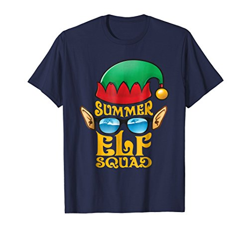 Elf Squad Summer Shirt Funny Christmas Elves Costumes Tees ()
