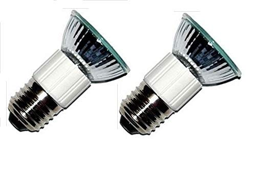 Package of 2 Light Bulbs, Z0B0011 50W JDR E27 75mm Range Hood Appliance Lamps