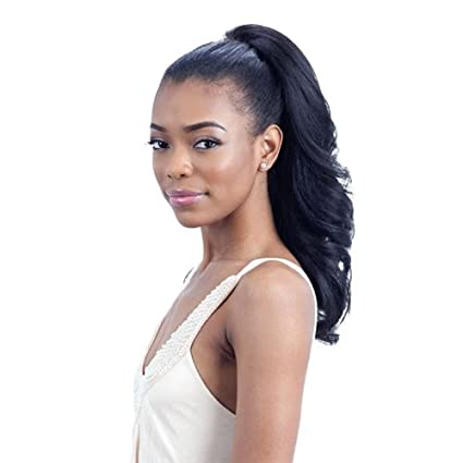 FEATHER GIRL (4 Med.Brown) - Freetress Equal Drawstring Synthetic Ponytail by Freetress Shake-N-Go
