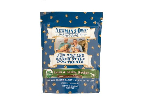 Newman's Own Organics Lamb and Barley New Zealand Ranch Style Dog Treats, 10-Ounce (Pack of 6), My Pet Supplies