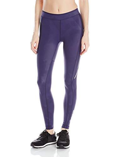 SKINS Women's A200 Compression Long Tights, Gloss Navy, X-Small
