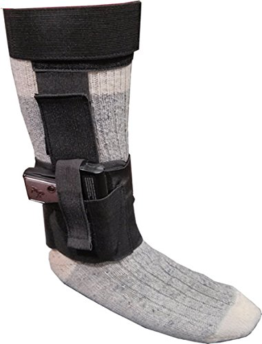 TufForce Ankle Holster, TG-HAN105B, for Middle or Small Frame Pistols and Revolvers, Glock, Ruger LCP, S&W Shield, Sig.