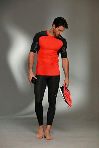 adidas Techfit Cool para hombre de manga corta camiseta para hombre Naranja - naranja/negro