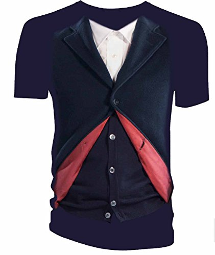 [Doctor Who Peter Capaldi 12th Doctor Costume T-Shirt (Small)] (The Who Halloween Costume)