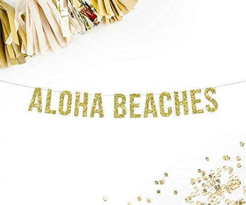 Aloha Paper (Aloha Beaches Party Banner | beach hawaiian pineapple theme party)