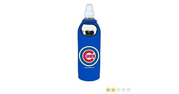 Chicago Cubs 1//2 Liter Water Soda Bottle Beverage Insulator Holder Cooler with Clip Baseball
