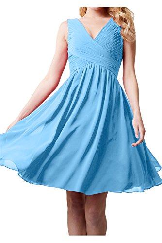 Vestido azul mujer Topkleider para 60 trapecio vxASdY