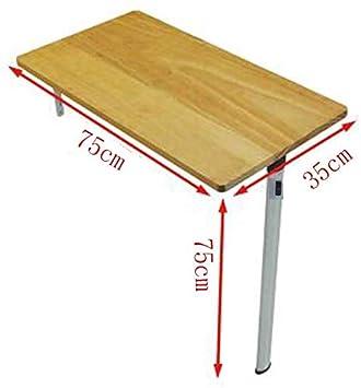 WGG Mesa Inicio Comedor de madera maciza plegable para ...