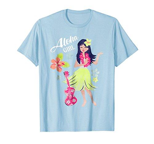 Vintage Hawaiian Hula Girl Shirt Tropical Beach Aloha -