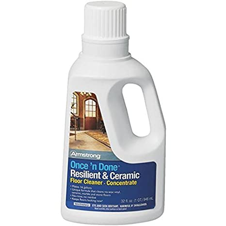 Armstrong Once N Done Resilient Ceramic Floor Cleaner Concentrate 32oz No Rinse No Wax New Package