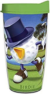 product image for Smile Drinkware USA-Be the Ball BIRDIE 16oz Tritan Insulated Tumbler With Lid and Straw