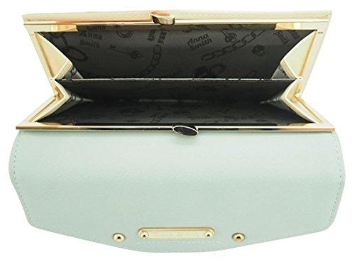 nna Smith imitación cuero gran Matinee monedero con caja de regalo Turquiose & Beige