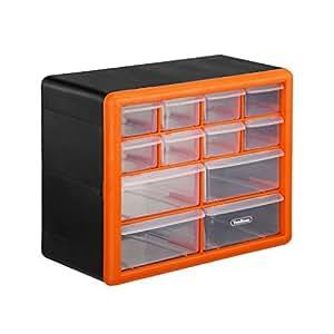 Amazon Com Vonhaus 12 Drawer Small Plastic Parts