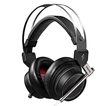 Image of 1MORE Spearhead VRX Over-Ear Gaming Headphones Super Bass Headset with Waves Nx Head Tracking, 7.1 Surround Sound, LED, Dual Microphone Noise Cancellation for PC/PS4/XBOX One/Mobile - Black Headsets