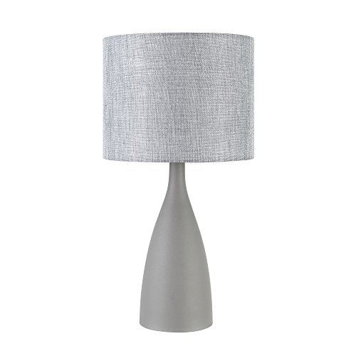 "Globe Electric Della 22"" Table Lamp, Concrete Finish Base, G"