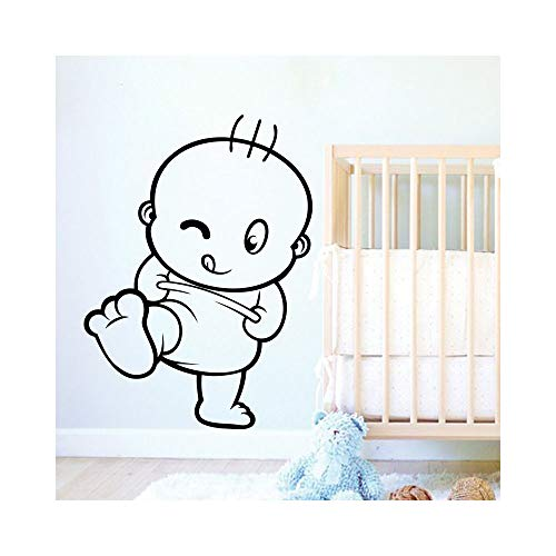 Oplayd Vinyl Wall Art Inspirational Quotes and Saying Home Decor Decal Sticker Naughty Baby for Nursery Kids -