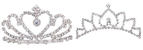 ashopz-girls-2-piece-set-lovely-princess-wedding-tiara-crown-comb-w-rhinestones