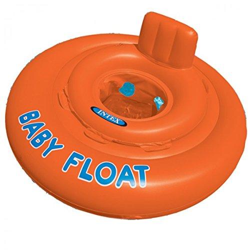 INTEX Babysicherheitsring Baby Float orange 76 cm Schwimmhilfe Baby Schwimmring Schwimmreifen Schwimmflügel