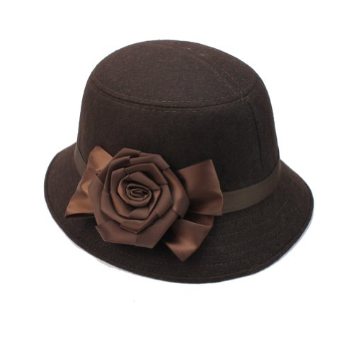 Hot F (Brown Cloche Hat)