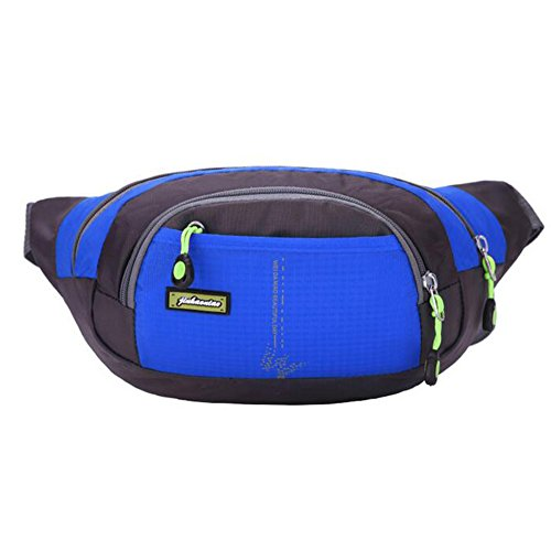 Waist Pack, Outdoor Sports Waist Bag, Bum bag, Running Exercise Hip Belt Fanny Pack, Workout Pouch With Zipper for Hiking Climbing Traveling (Blue) by ISADENSER
