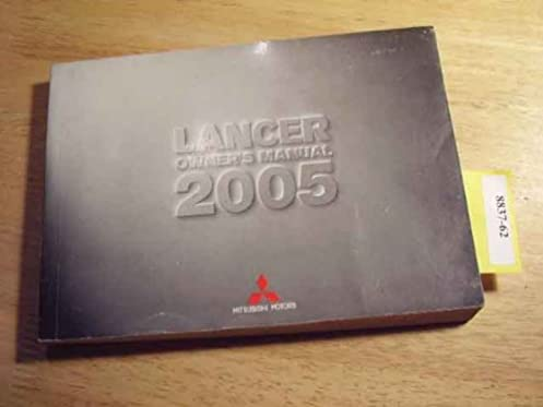 2005 mitsubishi lancer owners manual mitsubishi amazon com books rh amazon com 2004 mitsubishi lancer repair manual 2004 mitsubishi lancer user manual