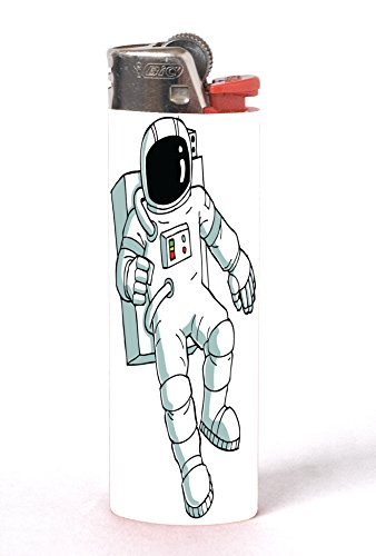 - Astronaut Costume Image Design Print Artwork Pattern 2 Pack Vinyl Decal Wrap Skin Stickers for Bic Lighters by Trendy Accessories