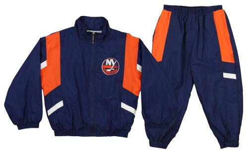 Mighty Mac New York Islanders NHL Little Boys Toddler Crinkle Wind Suit Jacket & Pants Set, Blue (3T) ()