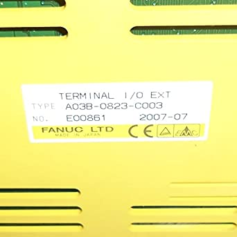 Amazon com: FANUC ROBOTICS TERMINAL I/O EXT MODULE A03B-0823-C003