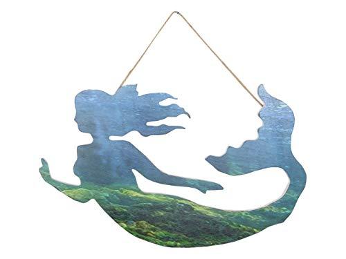 - American Frontiers Mermaid Wall Art Hanging Mermaid Decor Plaque Sea Nautical