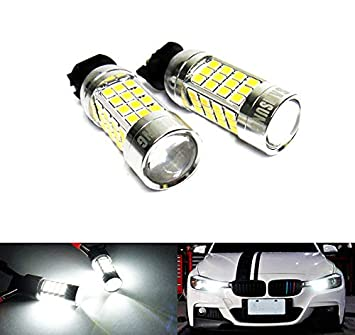 2 bombillas LED blancas PW24W PWY24W para Samsung 40 W, luz diurna DRL para A3 A4 A5 F30 C4 Golf 208: Amazon.es: Coche y moto