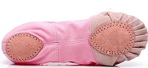 Schuhe Ballet Rot weich Bowknot Damen Schläppchen Pailletten mit für Gute Ballettschuhe Cystyle Mädchen Trainings Qualität 6ItA70x6qw