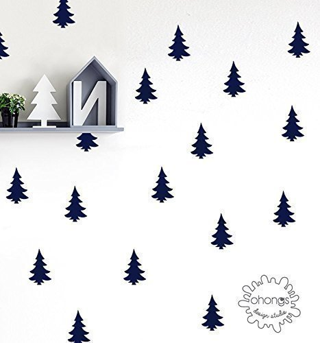 Pine Tree Wall Decal / Woodland Wall Decal / Kids wall decoration / Home Decor
